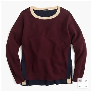 J. Crew Color Block Crew Neck Sweater